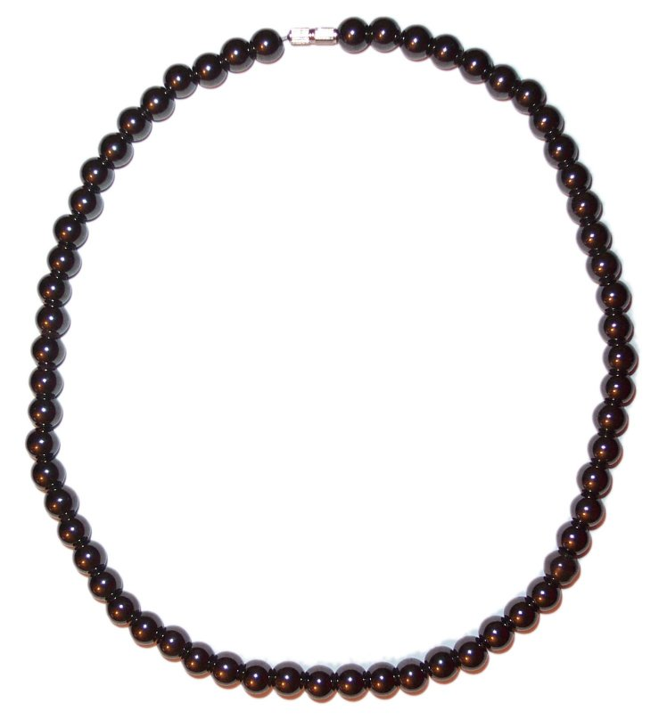 MAGNETIC HAEMATITE BEAD NECKLACE a