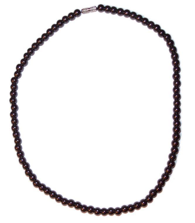 MAGNETIC HAEMATITE BEAD NECKLACE b