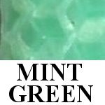 mint green beeswax candle