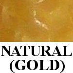 natural gold beeswax candle