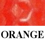 orange beeswax candle