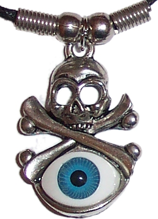 Mystic Eye with Skull and Crossbones Pendant (cg2)