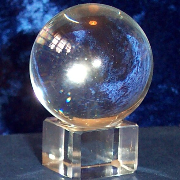 30mm Crystal Ball with glass stand and gift box