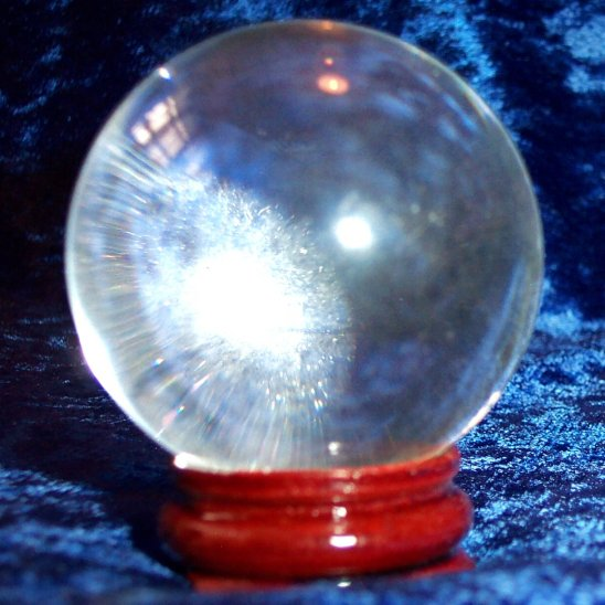 110mm Crystal Ball with wooden stand and gift box