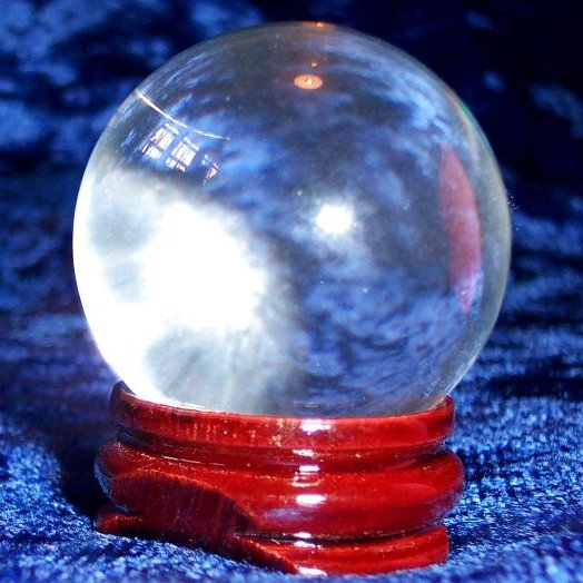 30mm Crystal Ball with wooden stand and gift box