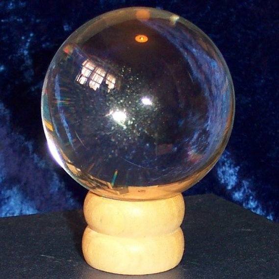 80mm Crystal Ball with wooden stand and gift box