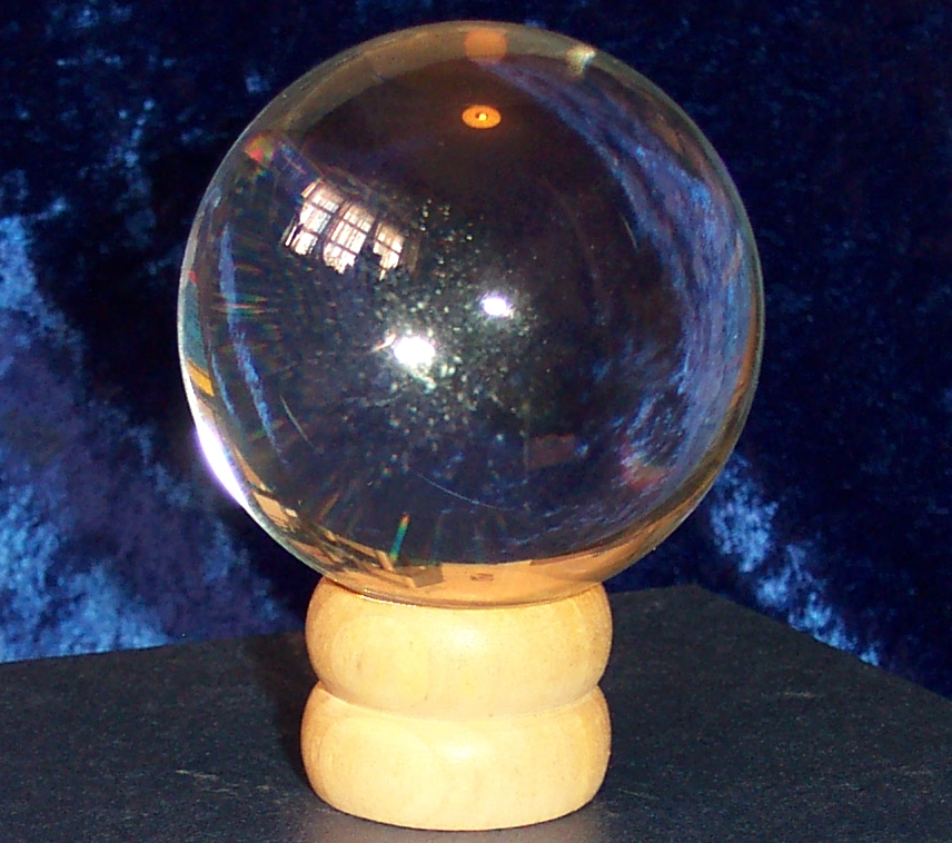 60mm Crystal Ball with wooden stand and gift box