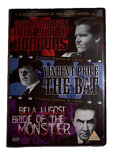 Little Shop Of Horrors, The Bat & Bride Of The Monster (DVD - PA