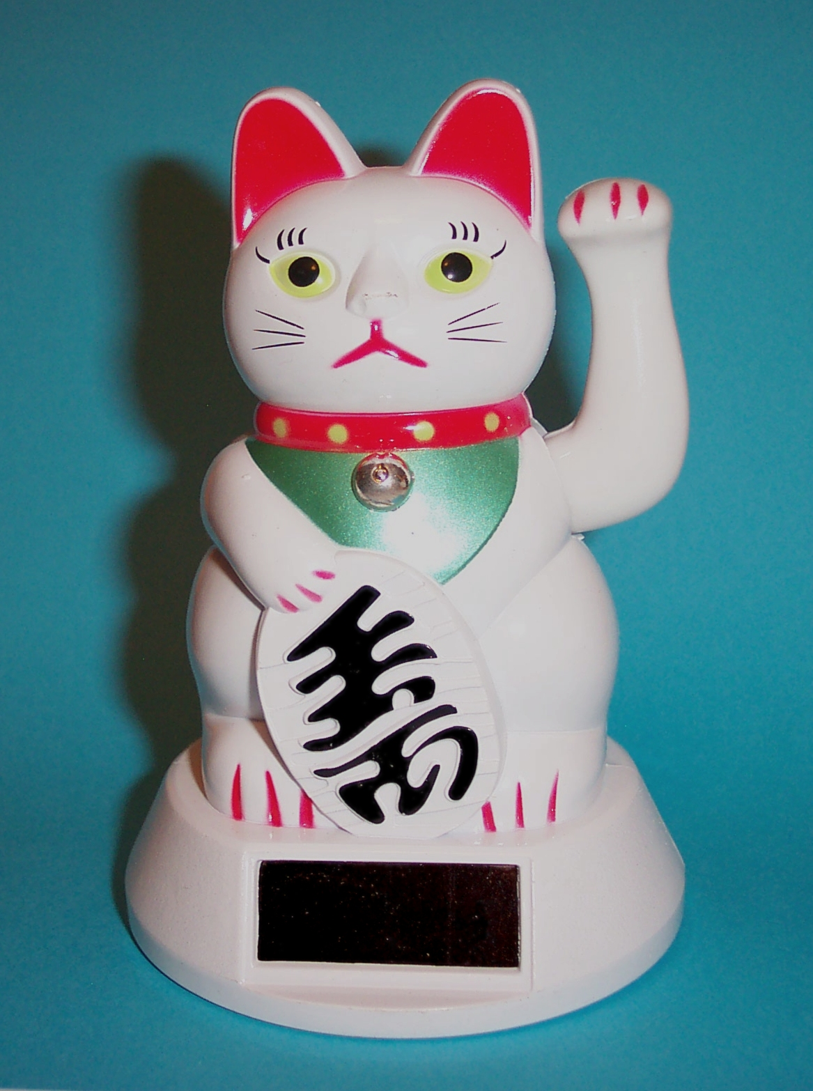 Solar Powered LUCKY MONEY CAT with waving paw