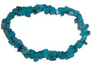TURQUOISE HOWLITE Chip Bracelet - Click Image to Close
