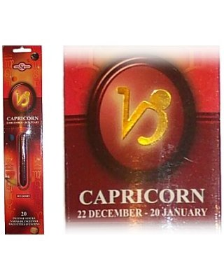 CAPRICORN Zodiac Incense Sticks (Time & Again)