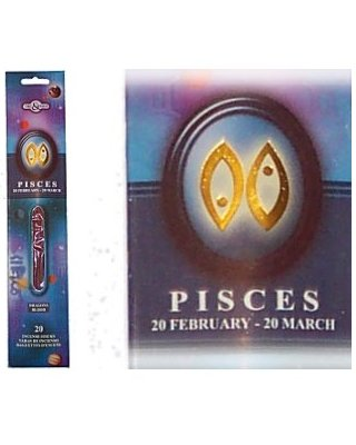 PISCES Zodiac Incense Sticks (Time & Again)
