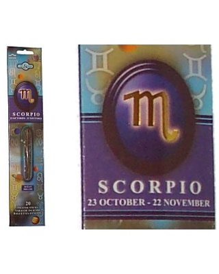 SCORPIO Zodiac Incense Sticks (Time & Again)