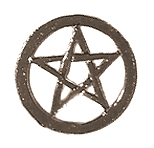 Pentagram Pin Badge - Click Image to Close