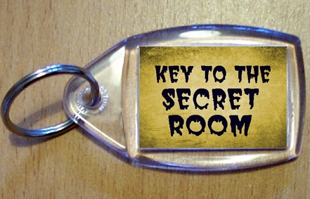 Key To The Secret Room Keyring