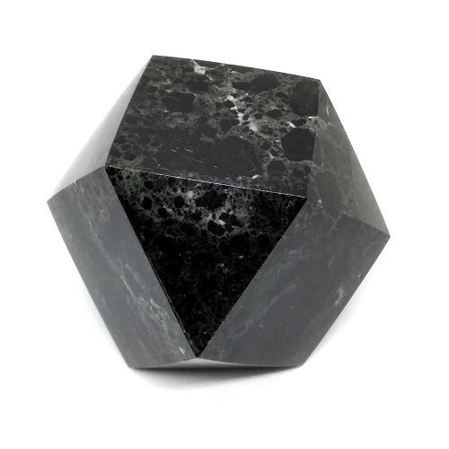 GEOMETRICALLY CARVED BLACK MARBLE (a)