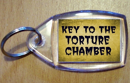 Key To The Torture Chamber Keyring